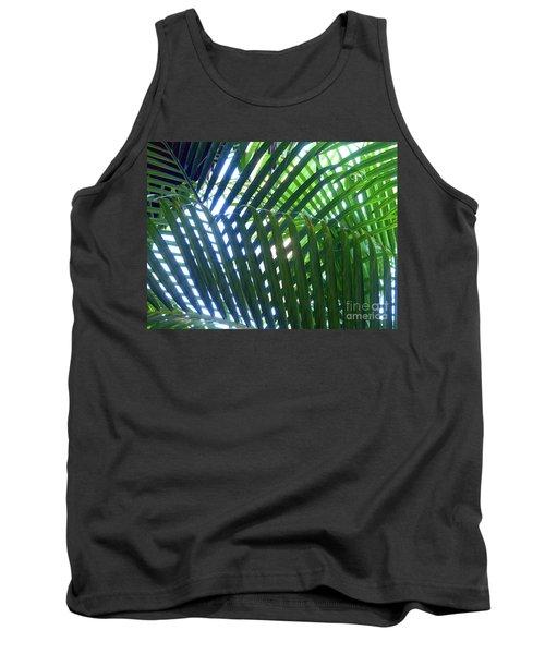 Patterned Palms Tank Top