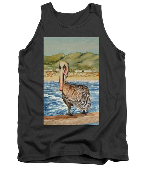 Tank Top featuring the painting Paula's Pelican by Katherine Young-Beck