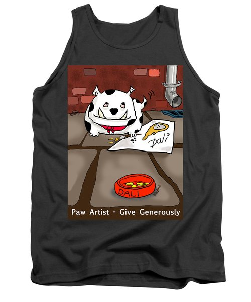 Paw Artist Give Generously Tank Top