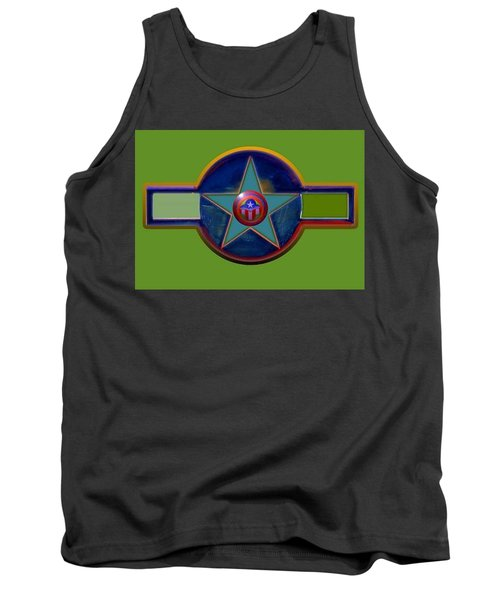 Tank Top featuring the digital art Pax Americana Decal by Charles Stuart