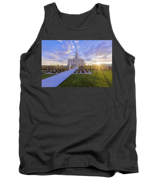 Tank Top featuring the photograph Payson Temple I by Chad Dutson