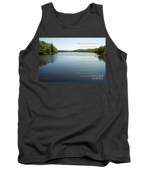 Peace I Ask Of Thee Oh River Tank Top