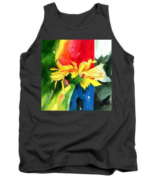 Peace Square Tank Top by Anil Nene