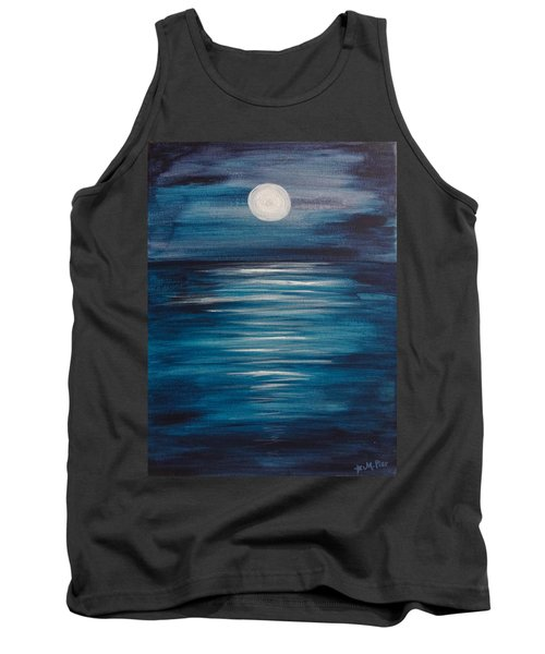 Peaceful Moon At Sea Tank Top