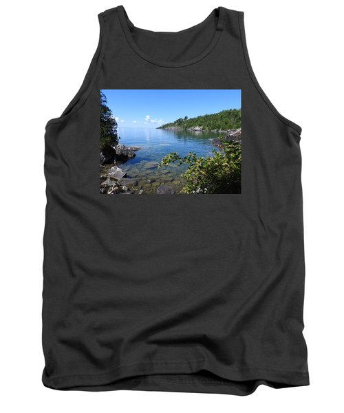 Peaceful Tranquilty_ Surrounded By Danger Tank Top by Janice Adomeit