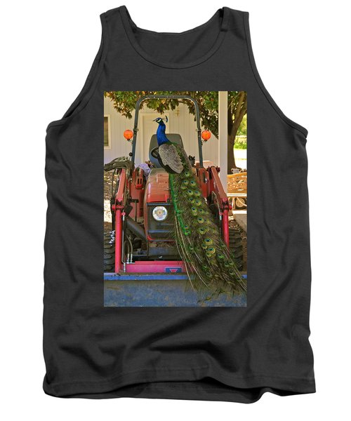 Peacock And His Ride Tank Top
