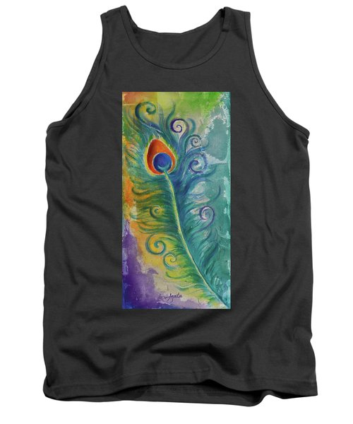 Peacock Feather Mural Tank Top