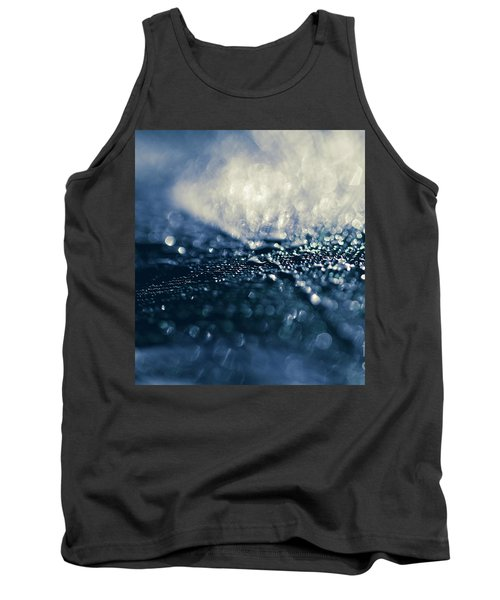 Tank Top featuring the photograph Peacock Macro Feather And Waterdrops by Sharon Mau