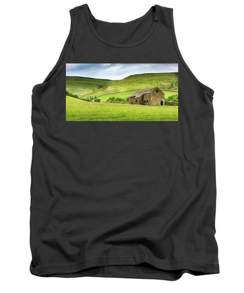 Tank Top featuring the photograph Peak Farm by Nick Bywater