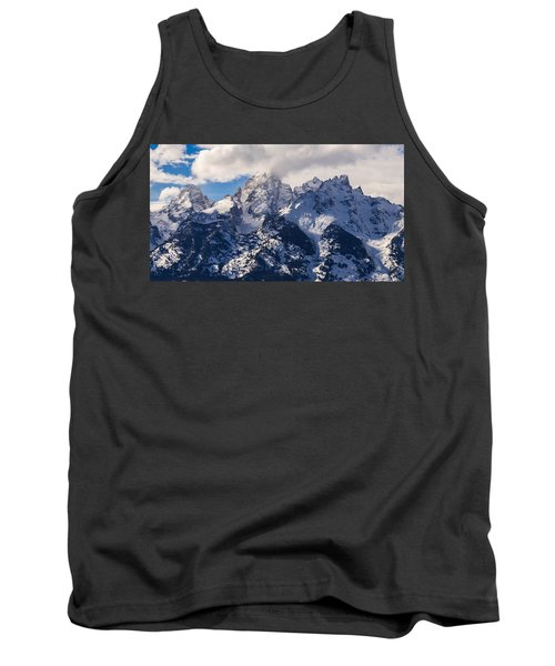 Tank Top featuring the photograph Peaks Of The Tetons by Serge Skiba