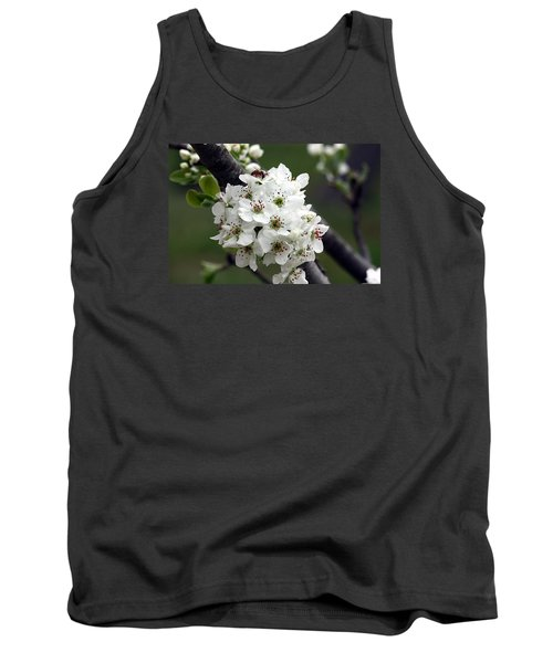 Tank Top featuring the photograph Pear Blossoms In Spring by Sheila Brown