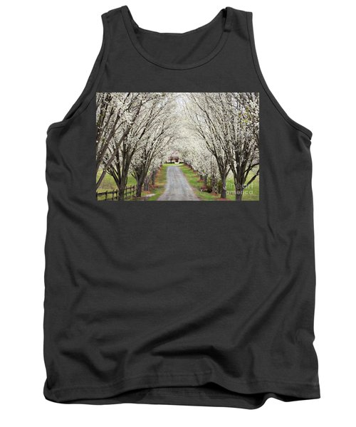 Tank Top featuring the photograph Pear Tree Lane by Benanne Stiens