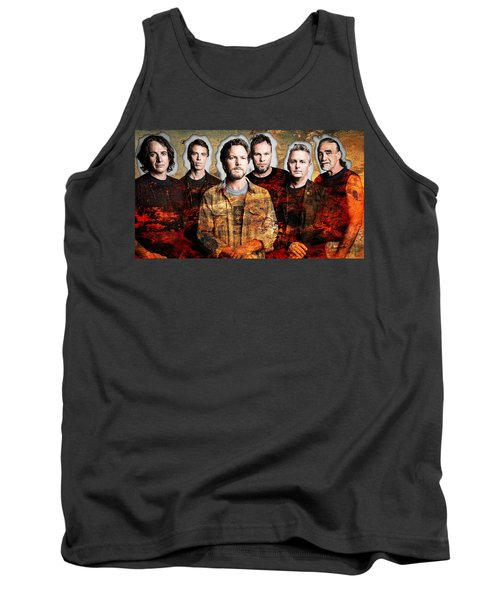 Tank Top featuring the mixed media Pearl Jam by Marvin Blaine