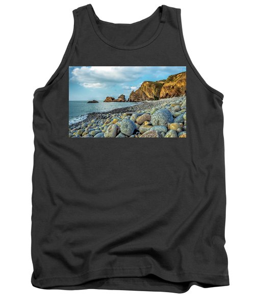 Tank Top featuring the photograph Pebbles On The Beach by Nick Bywater