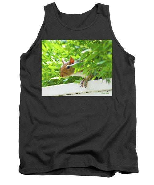 Peek-a-boo Gray Squirrel Tank Top