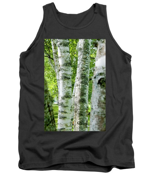 Tank Top featuring the photograph Peek A Boo Birch by Greg Fortier