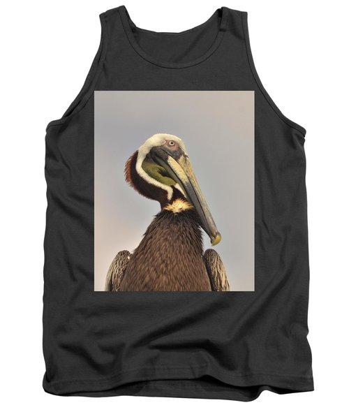 Pelican Portrait Tank Top by Nancy Landry