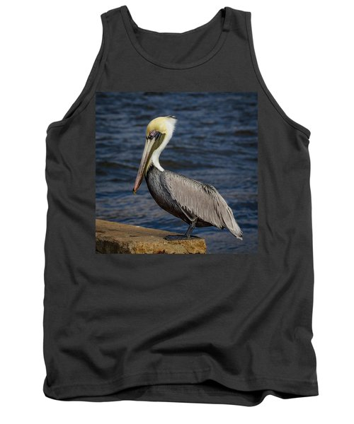 Tank Top featuring the photograph Pelican Profile 2 by Jean Noren