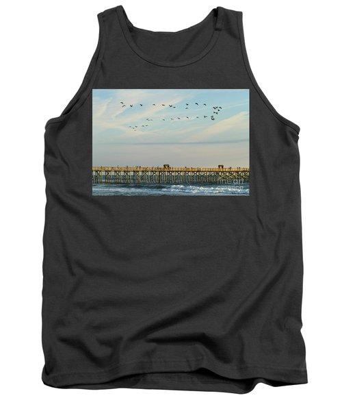 Pelicans At Flagler Beach Tank Top