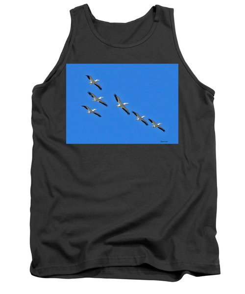 Pelicans In Blue Tank Top