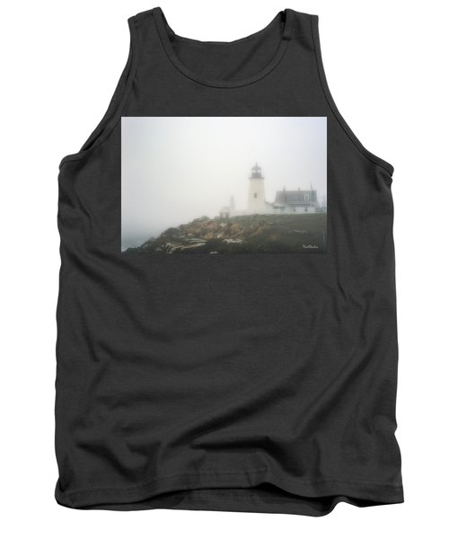 Pemaquid Point Lighthouse In Fog Tank Top