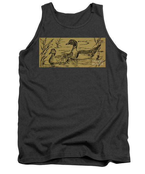 Pen And Ink Drawing Of Ducks  Tank Top