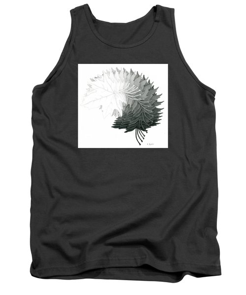 Pencil Drawing Of Maple Leaves Tank Top