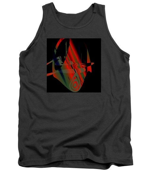 Tank Top featuring the painting Penman Original-265- We Are All Ethnic by Andrew Penman