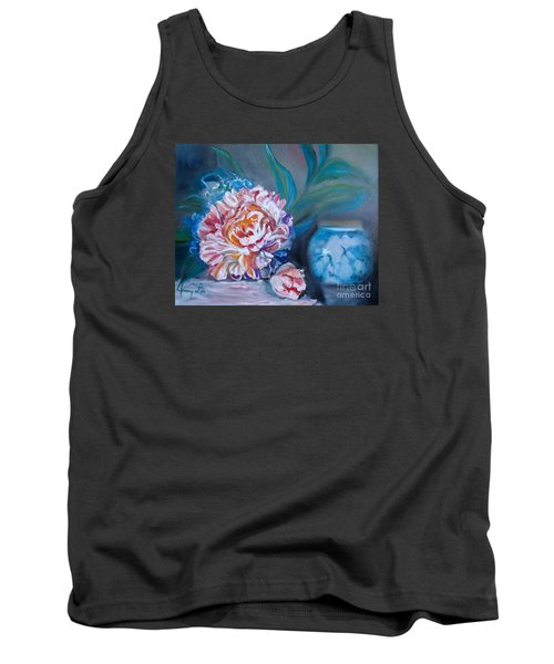 Peony And Chinese Vase Tank Top