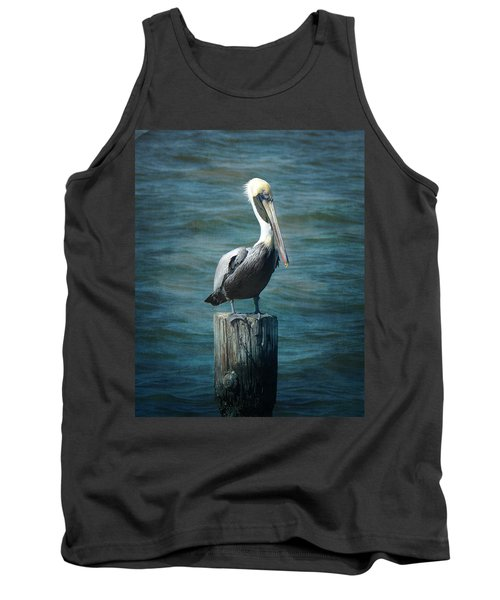 Perched Pelican Tank Top by Carla Parris