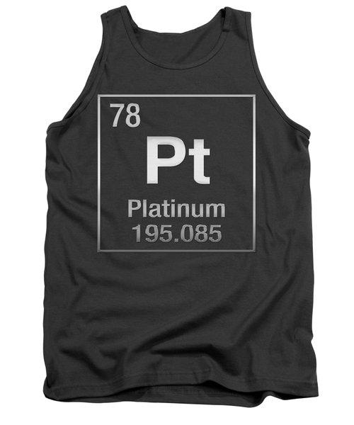 Periodic Table Of Elements - Platinum - Pt - Platinum On Platinum Tank Top