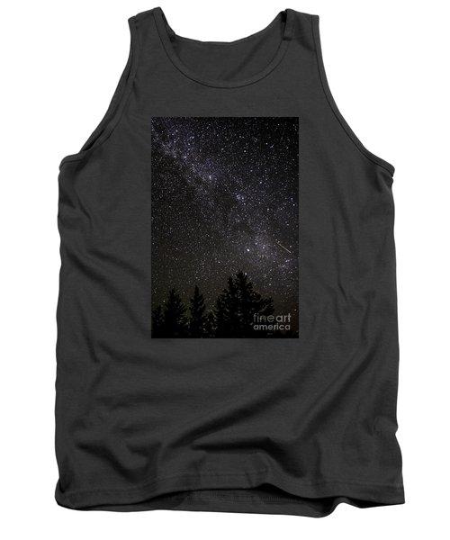 Perseid Meteor And Milky Way Tank Top