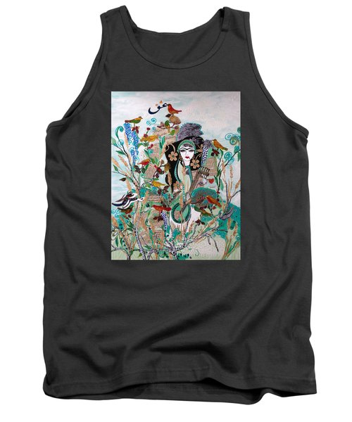Persian Painting # 2 Tank Top by Sima Amid Wewetzer