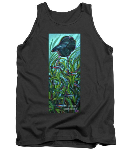 Persistent Fish Betta  Tank Top by Robert Phelps