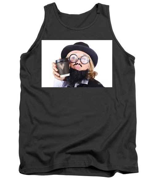Person With Cup Of Coffee Tank Top