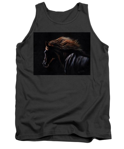 Tank Top featuring the painting Peruvian Paso Horse by David Stribbling