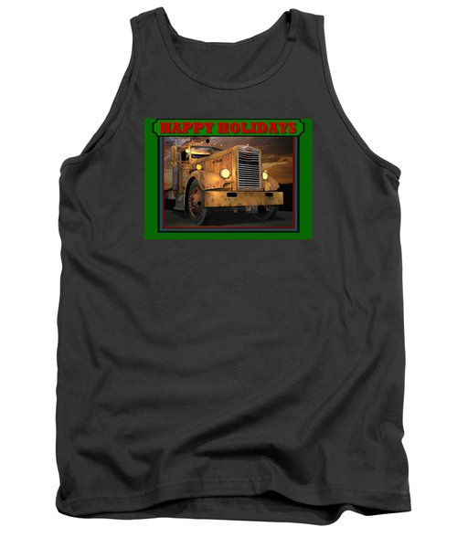 Tank Top featuring the digital art Pete Ol' Yeller Happy Holidays by Stuart Swartz