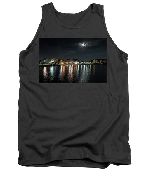 Pewaukee At Night Tank Top by Randy Scherkenbach