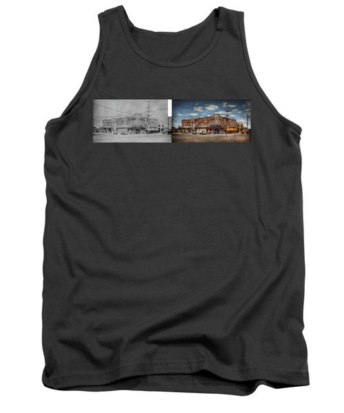 Tank Top featuring the photograph Pharmacy - The Corner Drugstore 1910 - Side By Side by Mike Savad