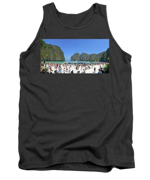Tank Top featuring the digital art Phi Phi Islands 4 by Eva Kaufman
