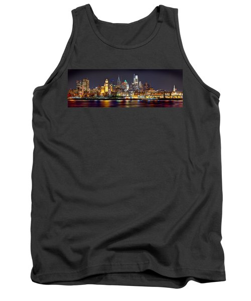 Philadelphia Philly Skyline At Night From East Color Tank Top