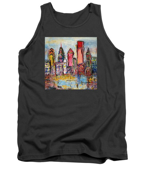 Philadelphia Skyline 232 1 Tank Top by Mawra Tahreem