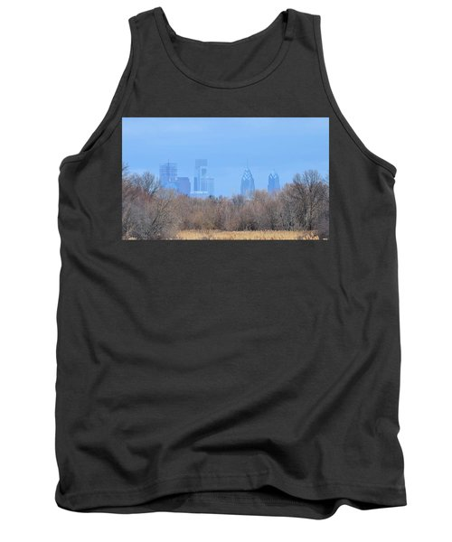 Philly From Afar Tank Top by Kathy Eickenberg