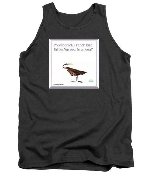 Philosophical Bird Tank Top