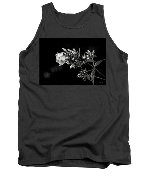 Phlox In Black And White Tank Top