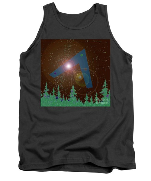 Tank Top featuring the painting Phoenix Lights Ufo by James Williamson