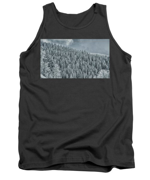 Tank Top featuring the photograph Winter Pines by Lou Novick