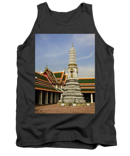 Phra Prang Tower At Wat Pho Temple Tank Top