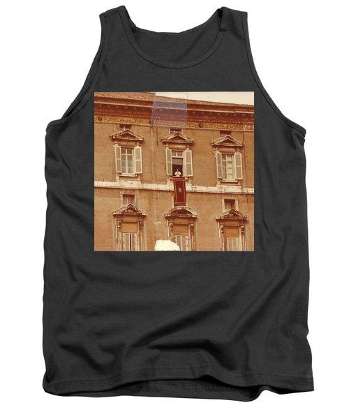 Piazza San Pietro-popes Window Tank Top