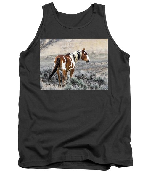 Picasso - Wild Mustang Stallion Of Sand Wash Basin Tank Top by Nadja Rider